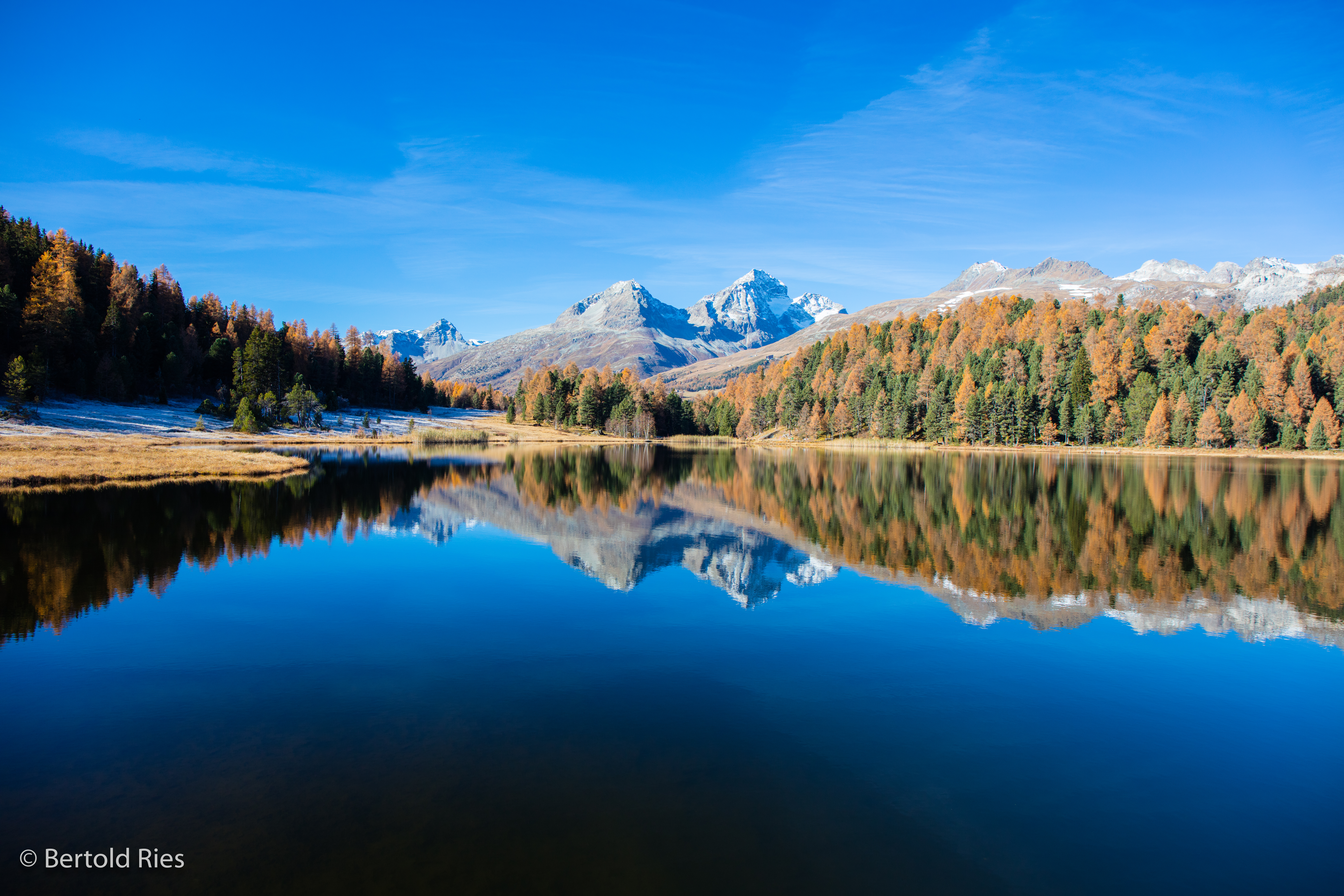 Golden Engadin, Calm Water, Swiss Lakes